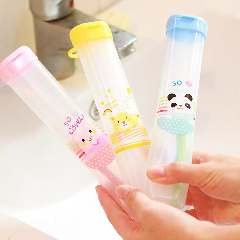 Cute Cartoon Children Toothbrush Box Bath Product Protect Toothbrush Case Holder font b Camping b font