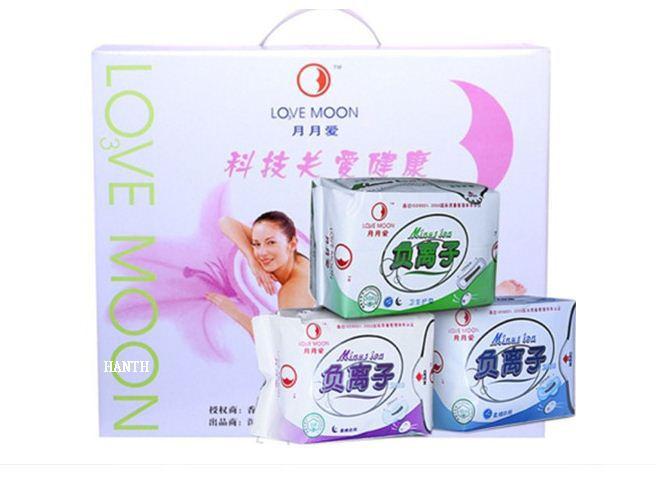 Winalite Lovemoon/Qiray Anion Sanitary napkin, pads,Panty liners 10 D+4 N+5 P Set 19 Packages/Lot Free Shipping,wholesale(China (Mainland))