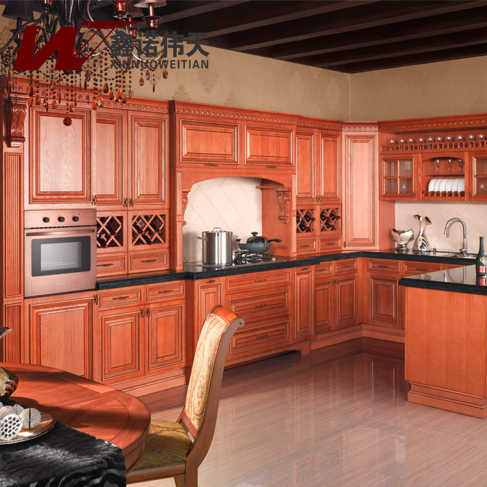 Fashion rustic kitchen cabinet customize ash solid wood for Ash wood kitchen cabinets