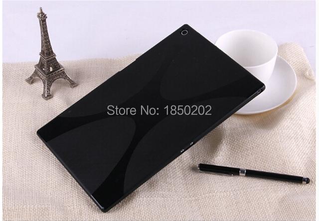 יוקרה חדשים סיליקון X קו רך גומי סיליקון TPU ג 'ל לעור מעטפת כיסוי מקרה עבור Sony Xperia Tablet Z2 SGP541/511/512CN 10.1