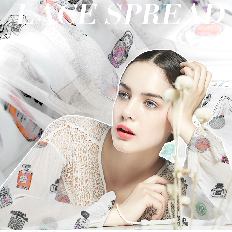 Tulle Rolls Tissus Fabric Exclusive Design Elements Perfume Fine Silk Chiffon Fabrics, Through 8 To Shun Floating Soft Cloth(China (Mainland))
