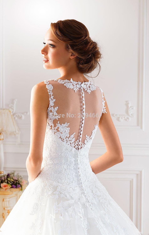 Vestidos de novia con encaje en espalda
