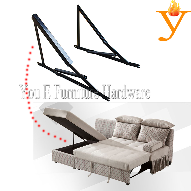 Metal Furniture Parts Storage Sofa Bed Mechanism Hinge With Spring D16(China (Mainland))