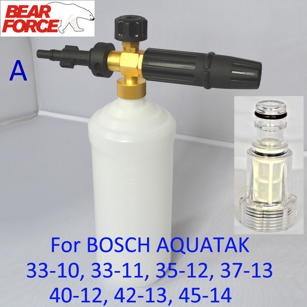 Foam Nozzle/ Snow soap Lance & Water Filter for Bosche AQT 33-10, 33-11, 35-12, 37-13, 40-12, 42-13, 45-14 High Pressure Washer(China (Mainland))