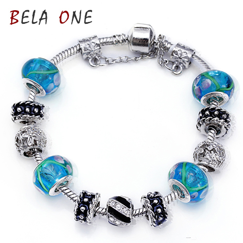 Fashion Sterling Silver Field of Daisies Murano Glass&Crystal European Charm Beads Fits pandora Style Bracelets PS3039(China (Mainland))