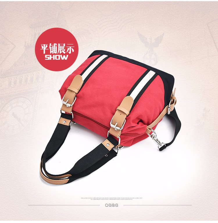 2016 Fashion Canvas Bag Women Handbags Large Capacity lady Messenger Bags High Quality splicing Panelled crossbody Shoulder bags