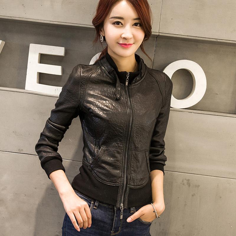 Autumn New Brand Women s Genuine Leather Jacket High end Foam Leather Sheepskin Slim Baseball Look