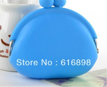 Wholesale&Retail Rubber Silicone Cosmetic Makeup Bag Coin Purses Wallets Cellphone Case Free Shipping