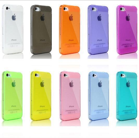 Buy get 50% discount 10 Colors sell Ultra Thin Clear Shell Capa Cover iPhone 5s 5 4 4s Hot Back Case iphone5 - LA Shopping Center store