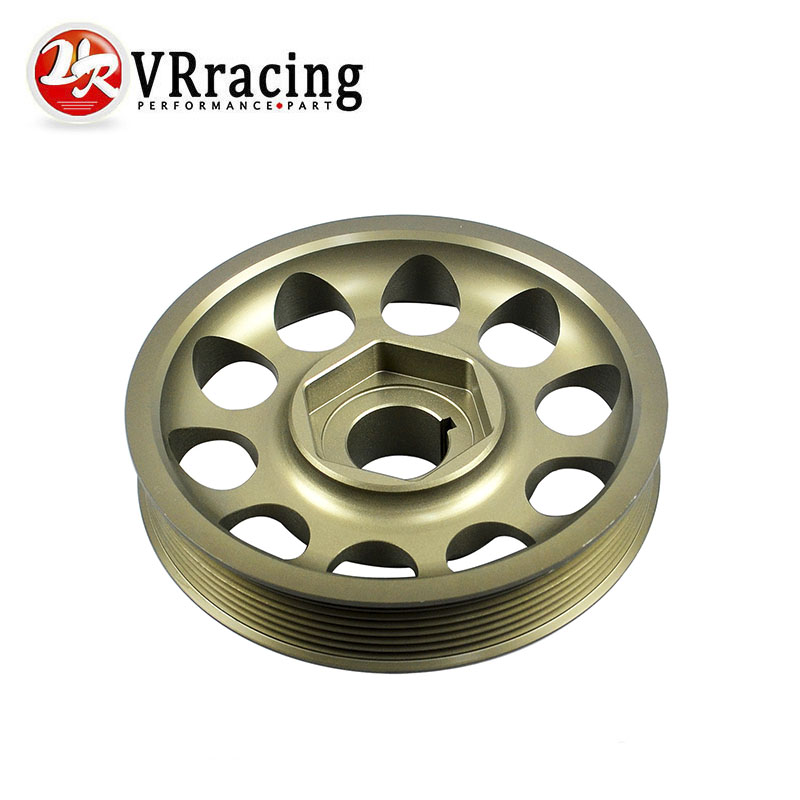 VR RACING- FREE SHIPPING Racing Light-Weight Crank Pulley For CIVIC FD2 FD2R 2.0 K20A VR-CP005