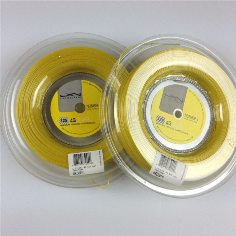 Free shipping(1reel/lot)LUXILON 4G Rough String/Polyester tennis strings/tennis racket/tennis racquet