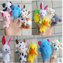 10pcs/bag Plush Finger Set Kid Child Baby Toy/doll Learn&Education finger puppets Play Story Telling hand puppet(China (Mainland))