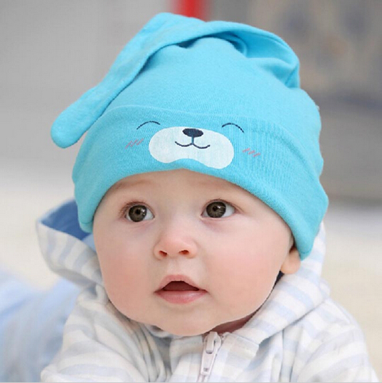 Hot Fashion! Free Shipping 1Piece Child Sleep Hat Newborn Cap The Baby Kit Lens Cap Baby Cotton Cap A249(China (Mainland))