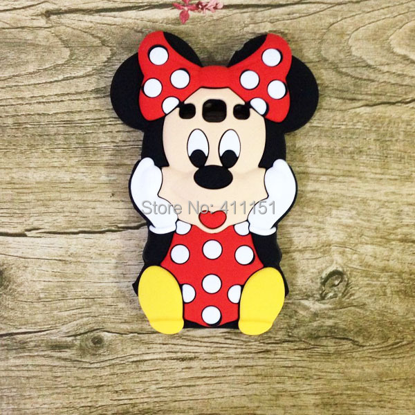 3D Cartoon Minnie Mouse Silicone Back Cover Case Samsung Galaxy Win I8550 I8552 - ALEX ZHOU Store store