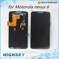 1 piece HK post free shipping replacement parts screen for Motorola nexus 6 XT1100 XT1103 lcd