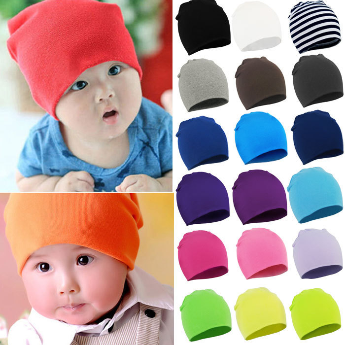 New Spring Autumn Winter Cotton Baby Hat Girl Boy Toddler Infant Kids Caps Brand Candy Color Lovely Baby Beanies Accessories Fre(China (Mainland))
