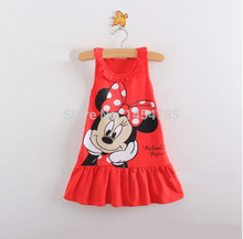 New Kids baby girl dress cute cartoon children Dress baby Clothes lovely girls dress vestidos infantis