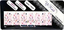 2015 New Nail Art Stickers 5sheets lot Cartoon Flower Heart Designs Nail Patch Wraps DIY Beauty