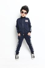 Children s sport suit 2015 new spring autumn boys girls sport set cotton fashion leisure kids