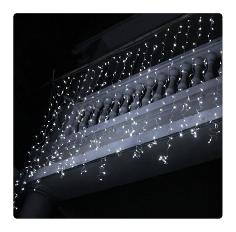 free shipping 6*3m 600 bulbs led curtain lights string/ led christmas lights/  white<br><br>Aliexpress