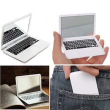 1Pc Creative laptop Style Makeup Mirror Mini Portable Fashion Notebook Cosmetic Beauty Mirror(China (Mainland))
