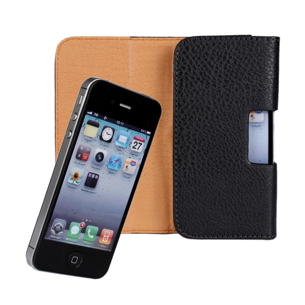 Case for iPhone 3GS Fundas for iPhone 4 Capa Hoesjes Coque for iPhone 4s Universal Holster PU Leather Pouch Belt Clip Flip Cover(China (Mainland))