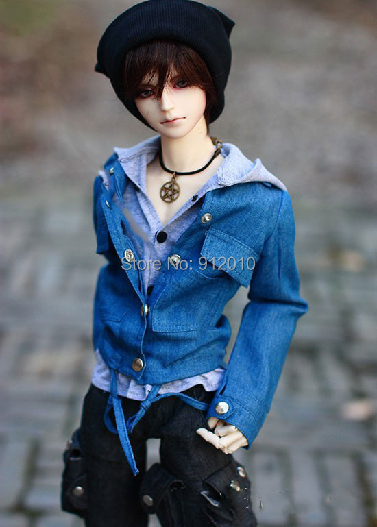Handsome Jeans Denim Jacket+Grey Shirt 1/3,1/4 SD17 Uncle BJD Doll SD Clothes<br><br>Aliexpress