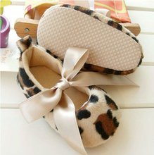 baby shoes Baby soft sole shoes - Leopard Infant Booties shoes Girl's Prewalker First walker shoes(China (Mainland))