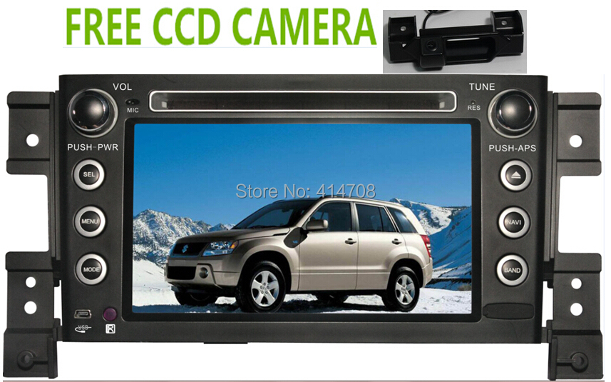 Factory car dvd gps for Suzuki Grand Vitara 2005-2011 +freeCCd camera+bluetooth+uSB+slip menu+ free map(China (Mainland))