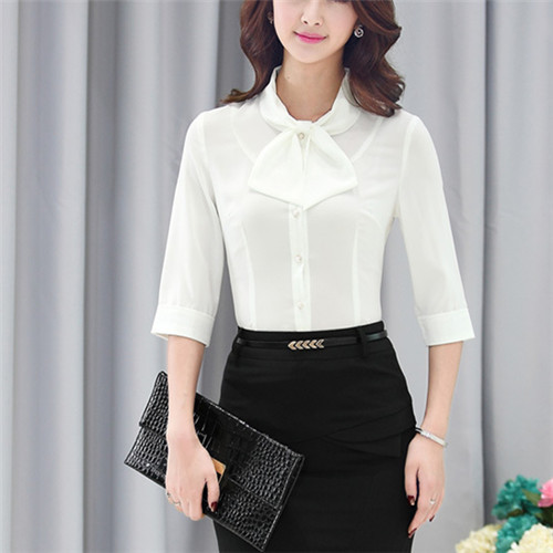White Formal Blouse - Blouse Styles