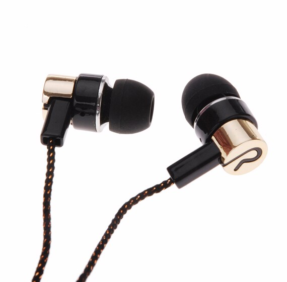 Earphones Jack Standard Noise Isolating 1.1M Reflective Fiber Cloth Line 3.5mm Stereo In-ear Earphone Earbuds Headset Headphone