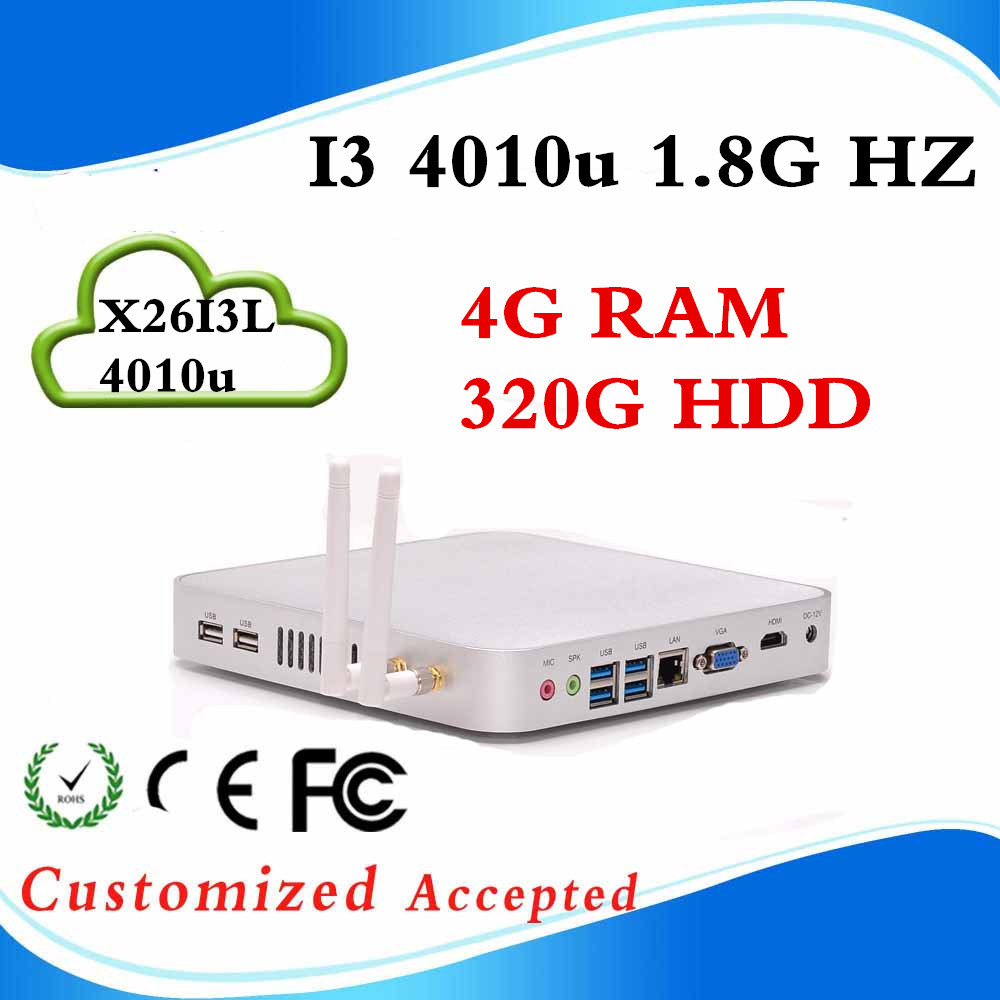 X26-I3L 4010U 4G RAM 320G HDD linux mini pc desktop computers mini thin client wifi Support embedded Hot on sale(China (Mainland))