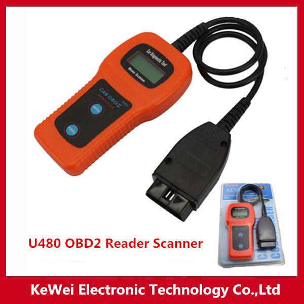 High Quality U480 OBD2 CAN BUS & Engine Code Reader U480 Car Code Reader OBD II Memo Scanner Car Diagnostic Scanner Fault(China (Mainland))