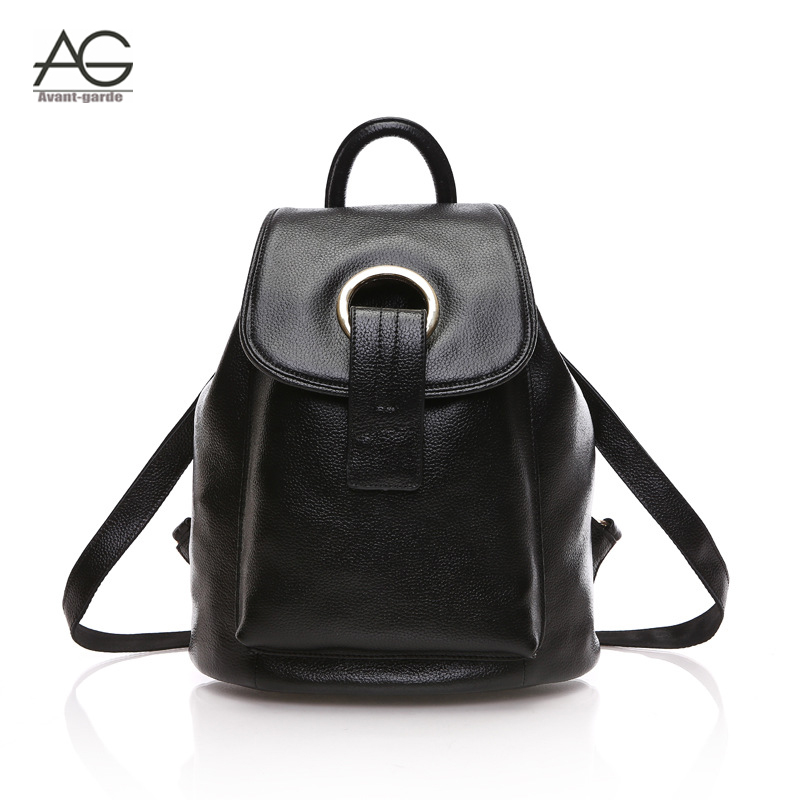 2015 New fashion black women backpacks preppy style backpacks for teenage girls casual genuine leather backpack mochila feminina<br><br>Aliexpress