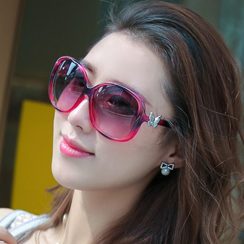 2015 Sexy new fashion retro glasses large frame sunglasses driving mirror tide sunglasses travel tourism(China (Mainland))