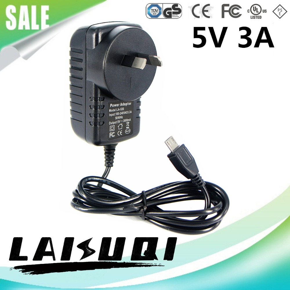 50pcs 5v 3a micro usb ac/dc power adapter AU plug charger 5v3a supply for raspberry pi zero other the free shipping new hot sale(China (Mainland))