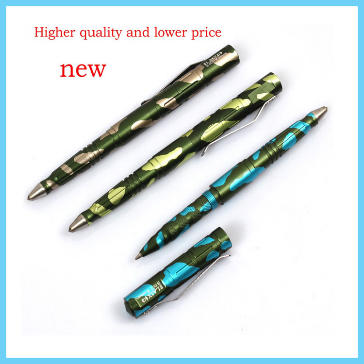 Camouflage Tactical Pen Tungsten Steel Pen Tip Defense Portable Survival Pen Camping Tool 6061-T6 Aviation Aluminum LAIX B007W(China (Mainland))