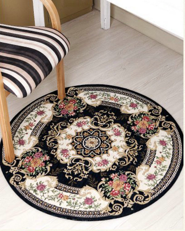 Round jacquard carpets for living room area rugs and for Round area rugs for living room