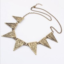 Buy 2016 Vintage Jewelry Fashion Metal Spike Short Chain Necklaces women wholesale Choker Chuncky Statement Pendants & Necklace for $1.55 in AliExpress store