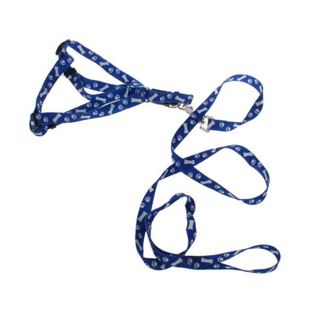 New 10PCS dog chain pet traction rope nylon leash harness chest collar drawing neck lead strap #8154