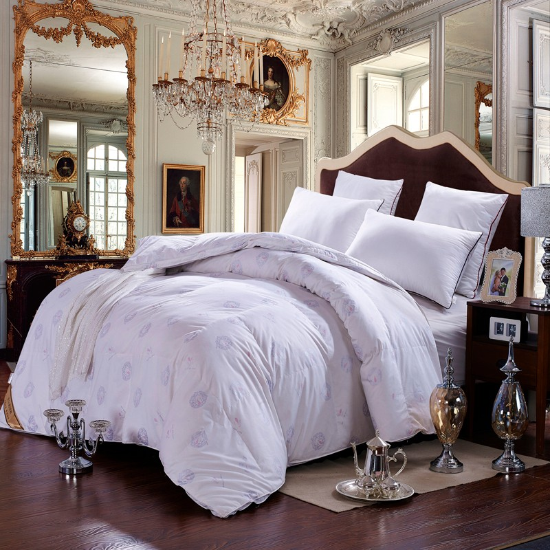winter white fake duck down comforter quilted duvet twin double king queen - Down Comforter Queen
