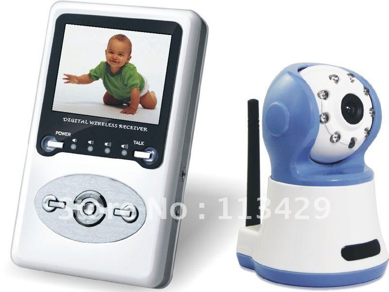 """wireless baby monitor Night vision with 2.4""""LCD display,100M distance digital signal support zoom 2-way speak and wireless kit(China (Mainland))"""