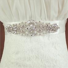 fashion ceinture femme crystal Handmade Belt Pearl Beading rhinestone wedding bridal Gown sash ladies cummerbund belts corset(China (Mainland))