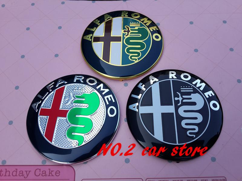 2pcs/lot Free shipping Specials sale 7.4cm ALFA ROMEO Car Logo emblem Badge sticker for Mito 147 156 159 166(China (Mainland))