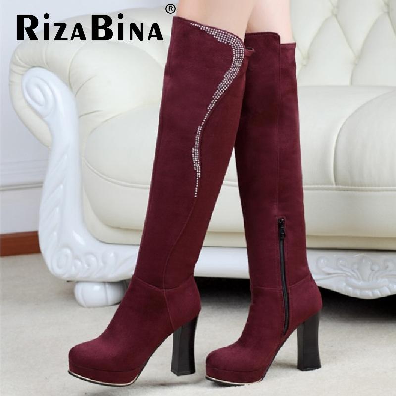 women high heel over knee boots riding winter snow boot warm botas masculina zipper fashion footwear shoes P19942 size 32-43<br><br>Aliexpress