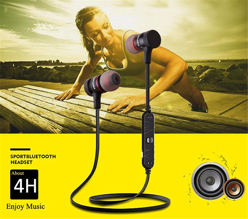 Awei A920BL Smart Wireless Bluetooth 4.0 Sports Stereo Earphone Noise Reduction Earphone With Mic Voice Controlling Function