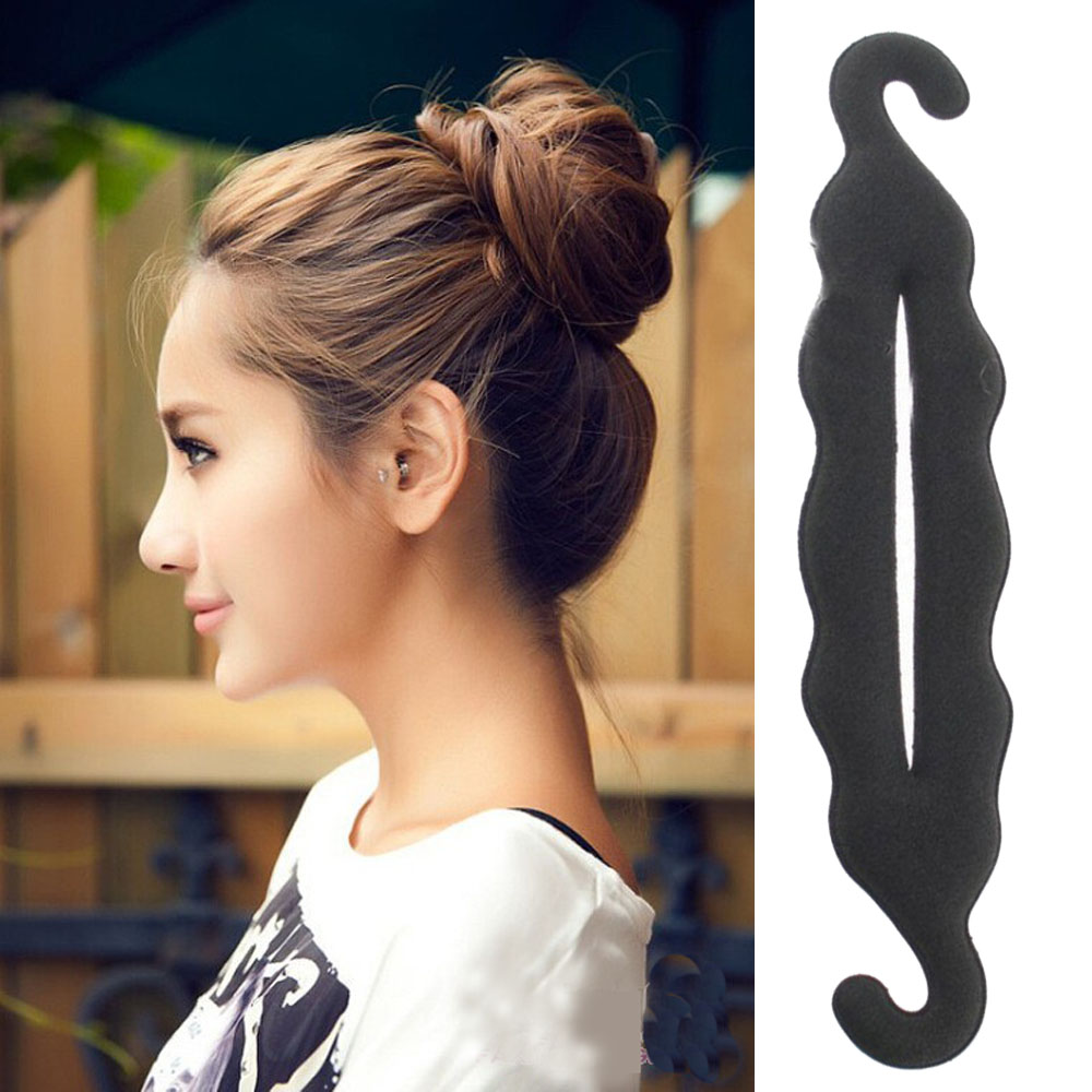 Norvin Women Hair Accessories Magic Foam Sponge Hairdisk Hair Device Donut Quick Messy Bun Updo Headwear 3 Styles new 2016(China (Mainland))