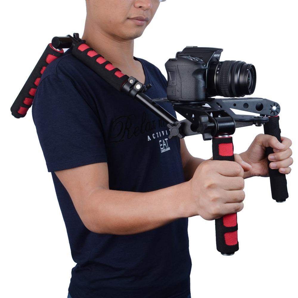 Neewer Red DSLR Rig original Movie Kit Shoulder Mount for any DV Camera Canon 1100D 7D 6D Sony Nikon Panasonic Free Shipping(China (Mainland))
