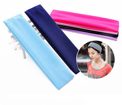 Women Sports Gym Stretchy Headband Stretch Cotton Hairband For Yoga Running(China (Mainland))
