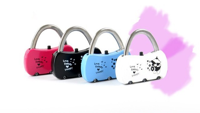 Outdoor products diary lock/bags lock/anti-theft lock/alloy password lock 3 groups turntable Free shipping